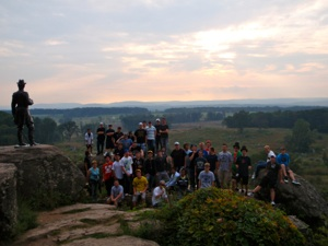 Warriors at Gettysburg battlefield 2009