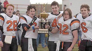 2003 Captains receive the Peace Bowl
