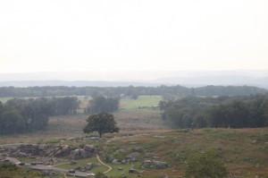 The battledfield at Gettysburg
