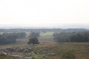 The battledfield at Gettysburg